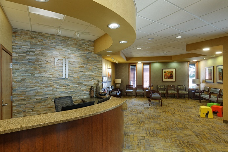 Waiting room and front desk